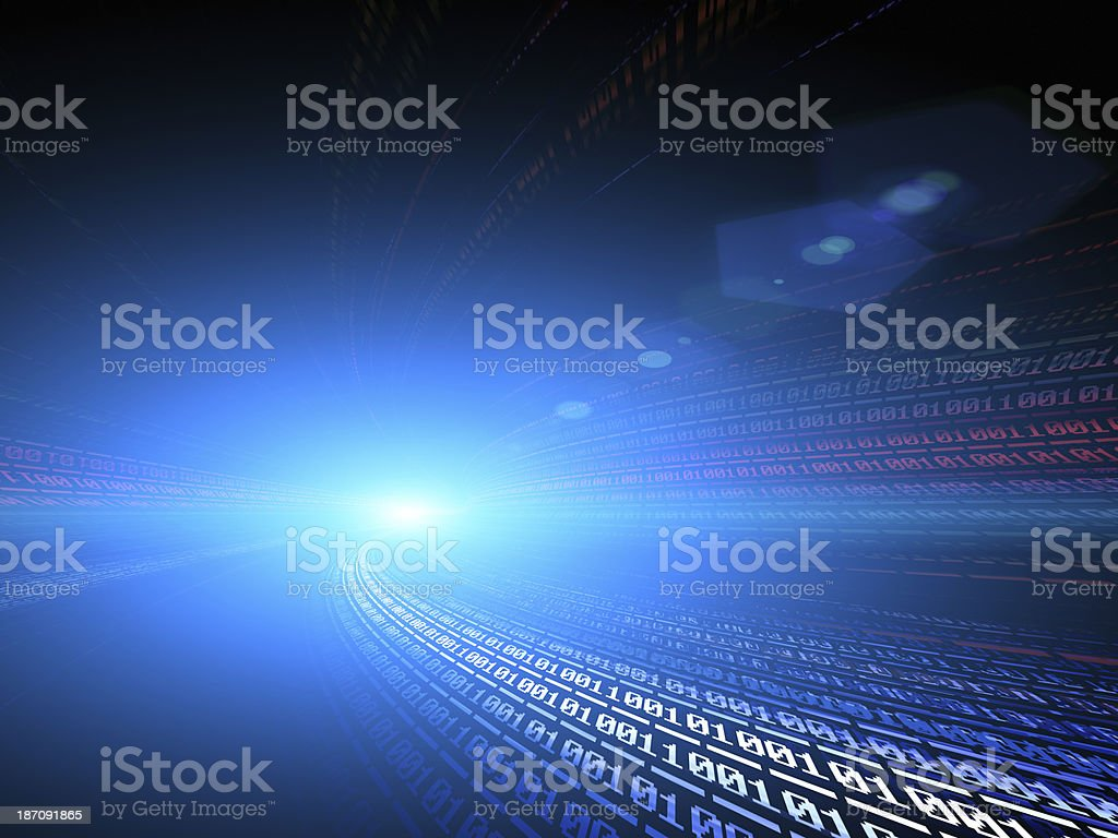 Abstract digital traffic, futuristic megalopolis stock photo