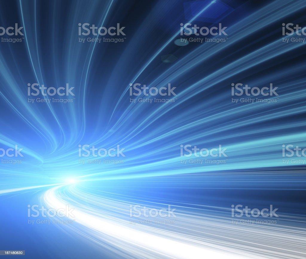 Abstract digital traffic, futuristic megalopolis stock photo