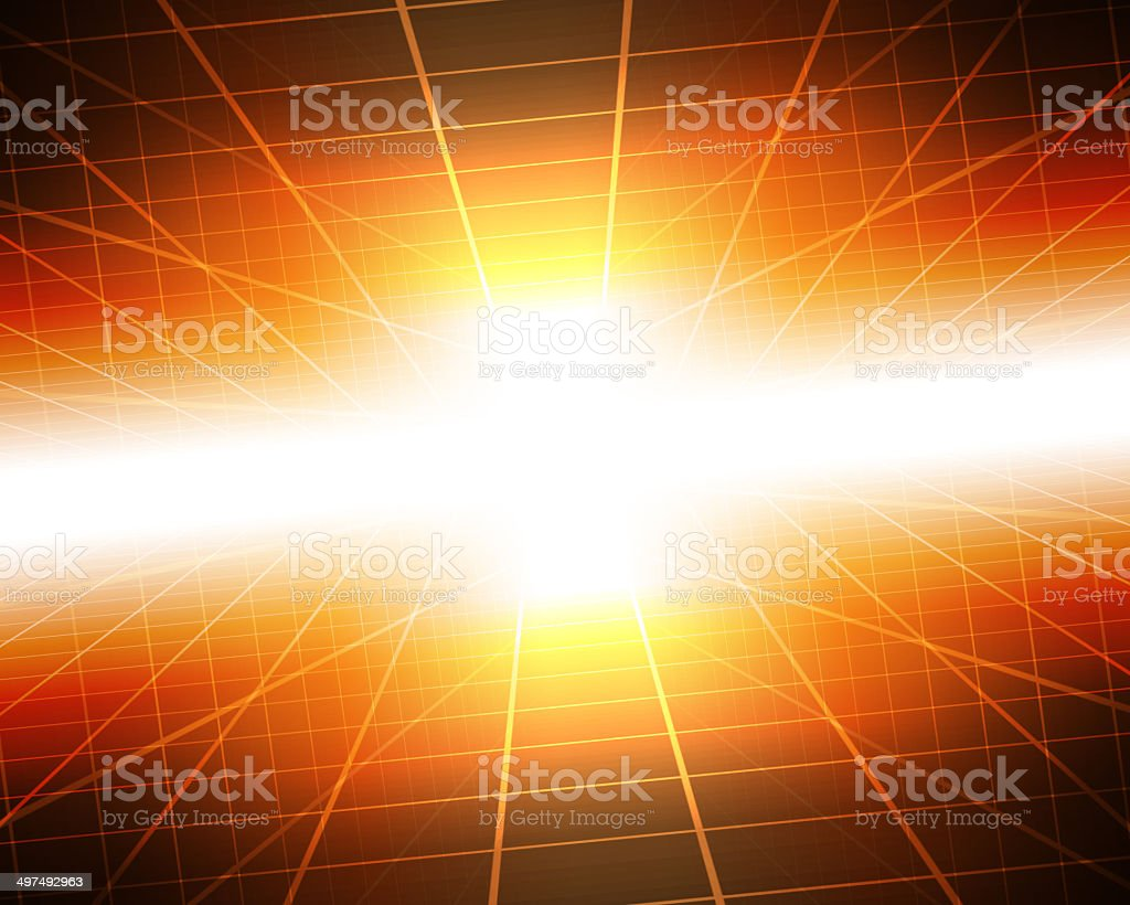 abstract digital tunnel with light insideout stock photo