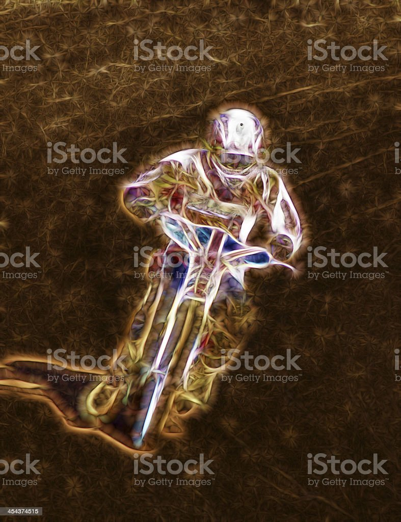 Abstract Dirt Track Motorcycle Racer royalty-free stock photo