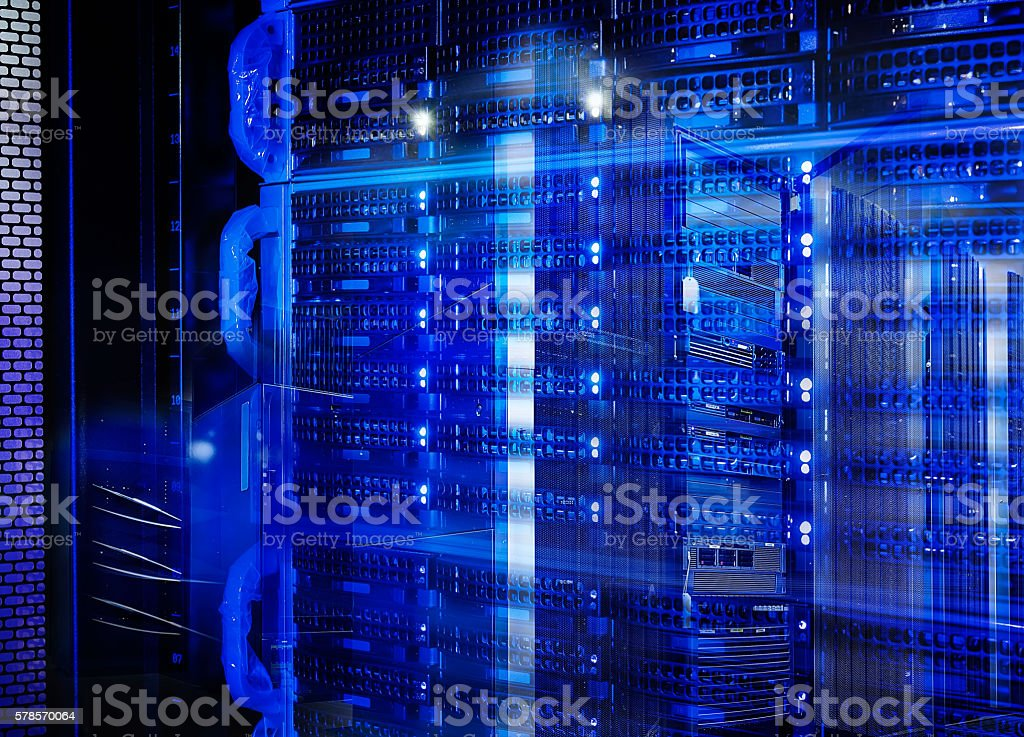 abstract disk storage disks of mainframe in the data center stock photo