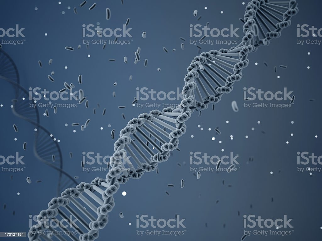 abstract DNA molecule new genom royalty-free stock photo