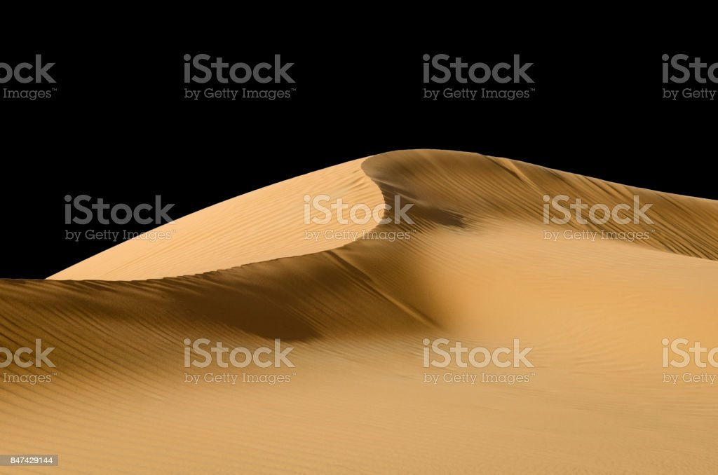Abstract dune ridge,  black and white stock photo