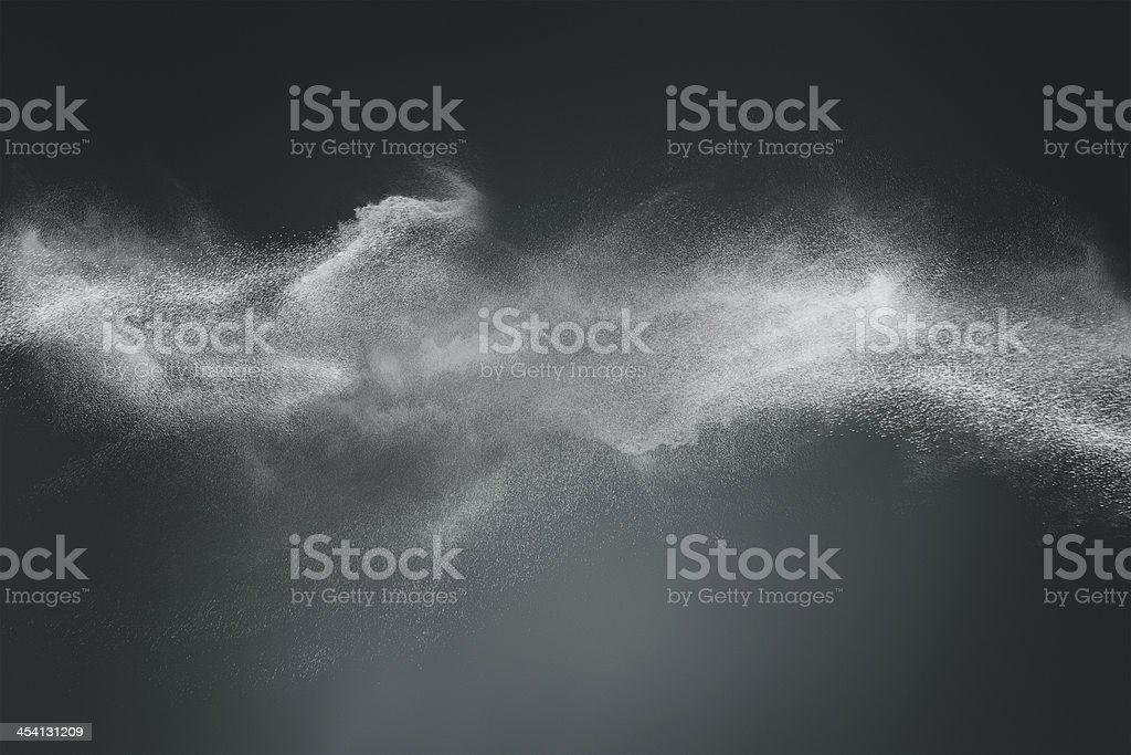 Abstract dust cloud design stock photo