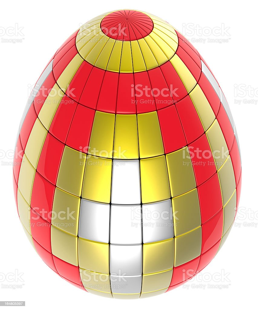 Abstract easter egg royalty-free stock photo