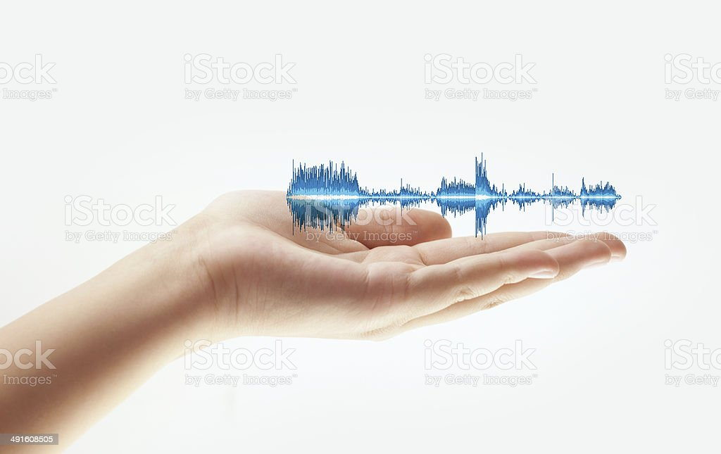 Abstract - Electric Blue Waveform stock photo