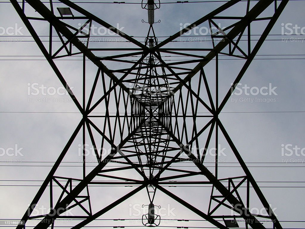 Abstract electric pylon royalty-free stock photo