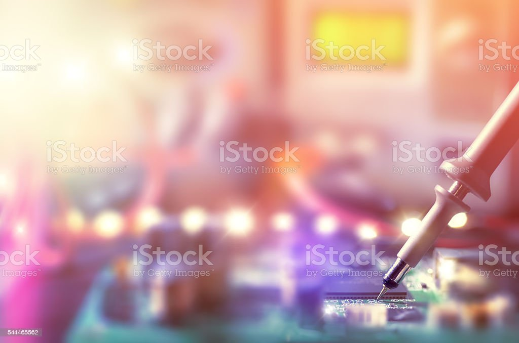 Abstract electronic background, text space stock photo