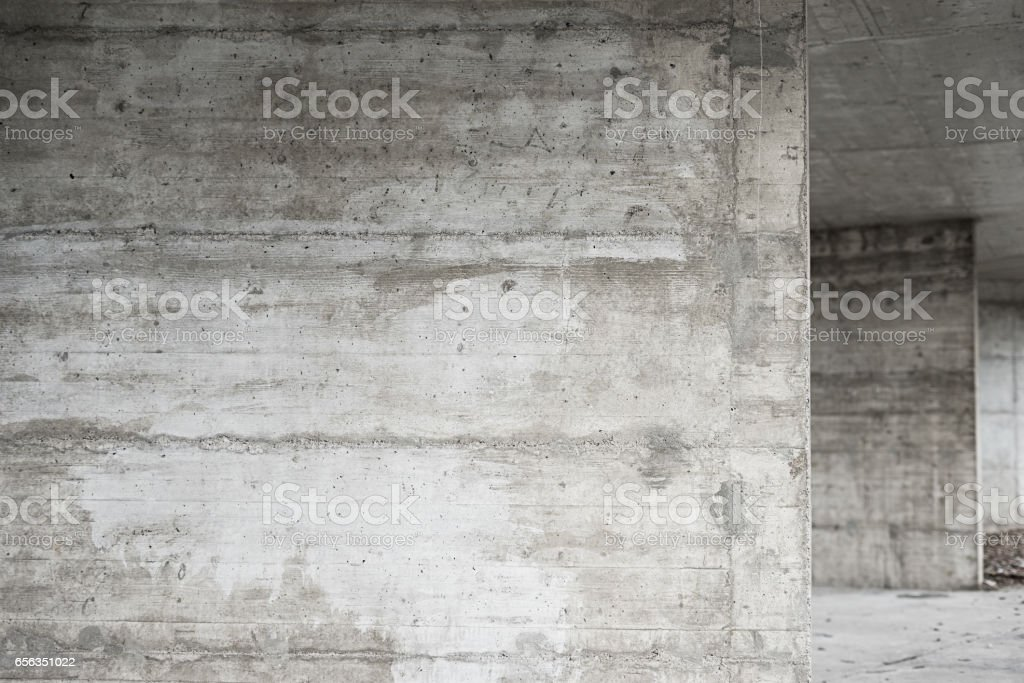 Abstract empty background.Photo of blank concrete wall texture. Grey washed cement surface.Horizontal image. stock photo