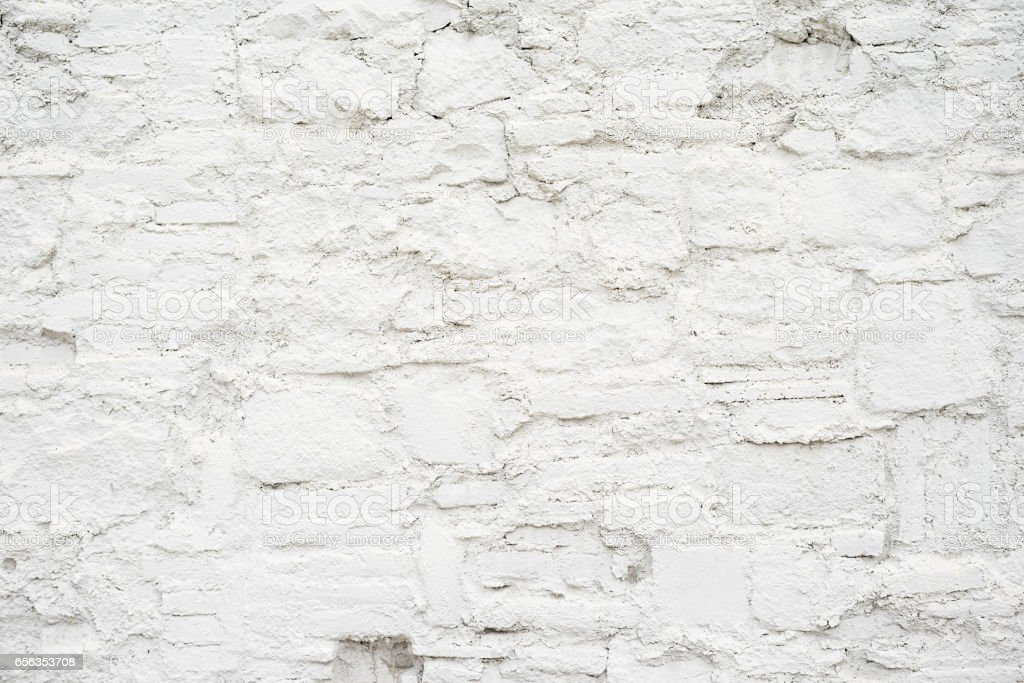 Abstract empty background.Photo of white blank stone wall texture. Blank cement surface.Horizontal. stock photo