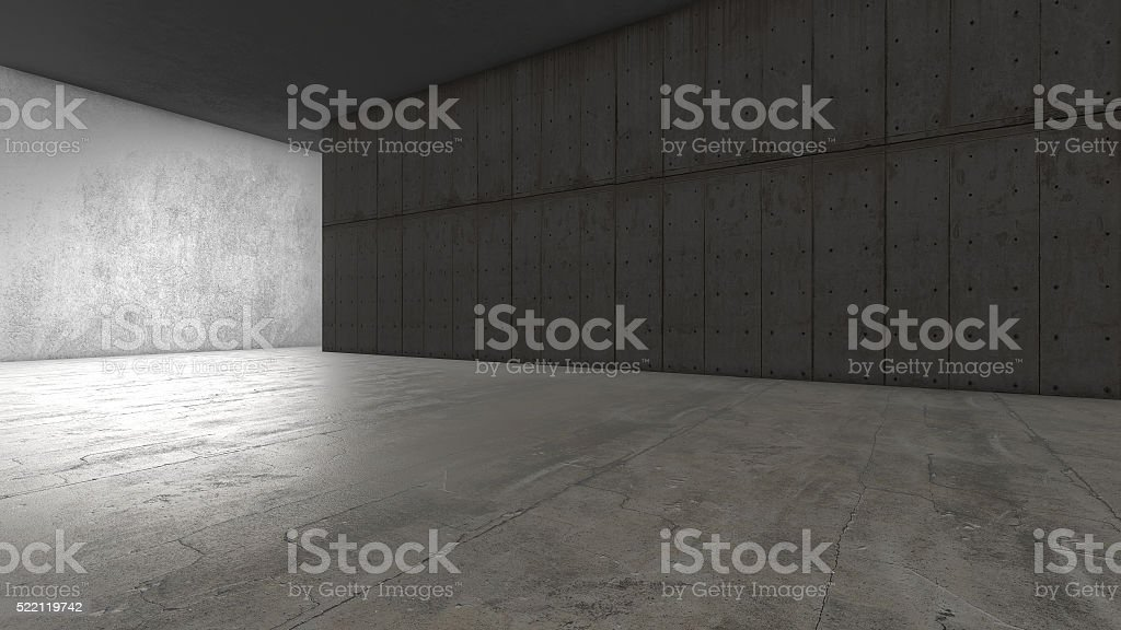 Abstract empty concrete space royalty-free stock photo