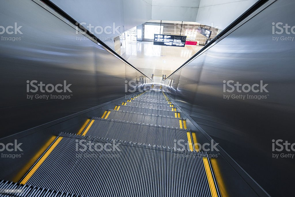 Abstract empty escalator royalty-free stock photo