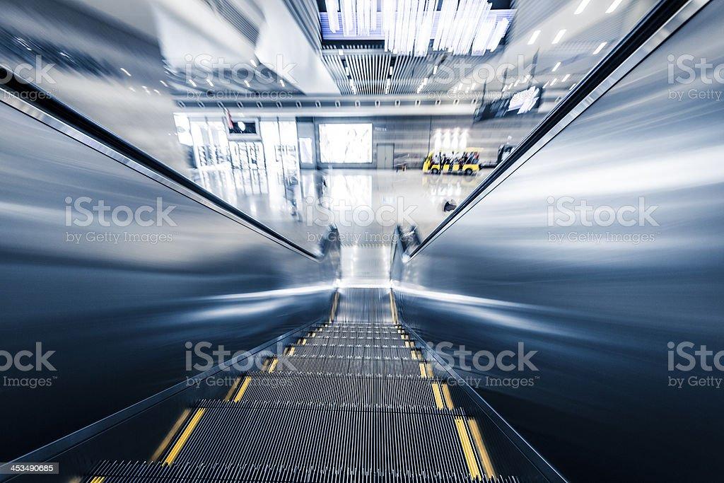 Abstract empty escalator royalty-free stock photo