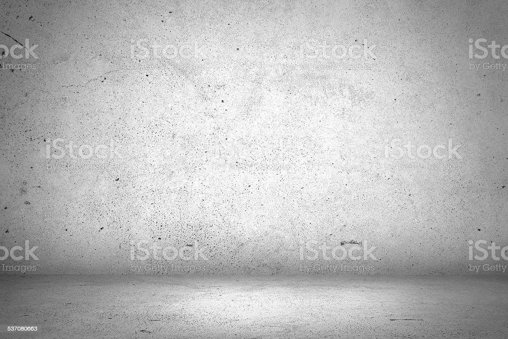 Abstract empty white interior with concrete wall and floor stock photo