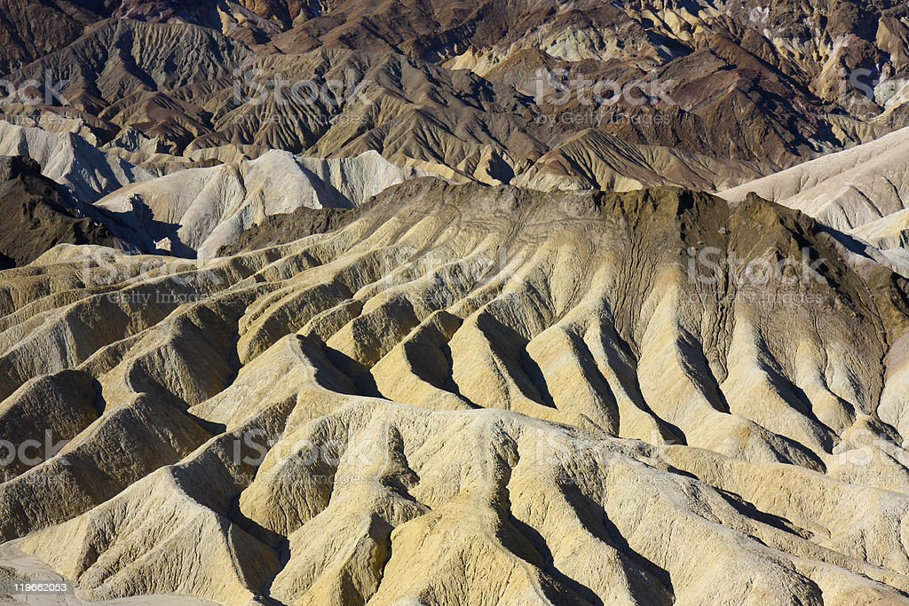 abstract erosion landscape in death valley stock photo