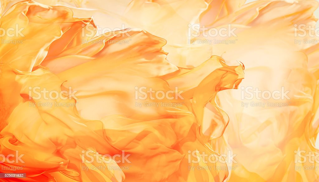 Abstract Fabric Flame Background, Artistic Waving Cloth Fractal Pattern stock photo