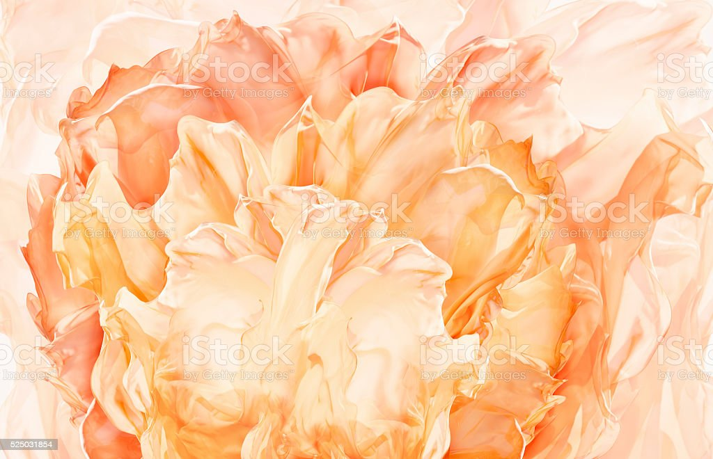 Abstract Fabric Flower Background, Artistic Floral Waving Cloth, Petal pattern stock photo