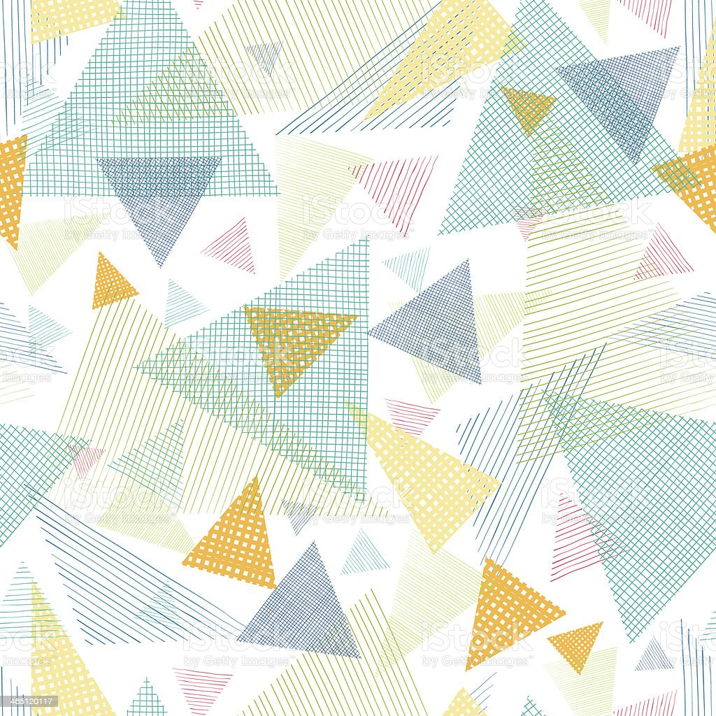 Abstract fabric triangles seamless pattern background raster royalty-free stock photo