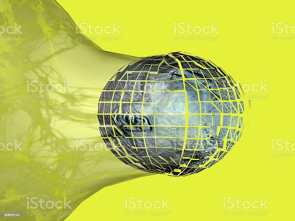 Abstract Face in 3D Break royalty-free stock photo
