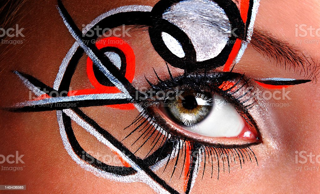 abstract  face paint royalty-free stock photo