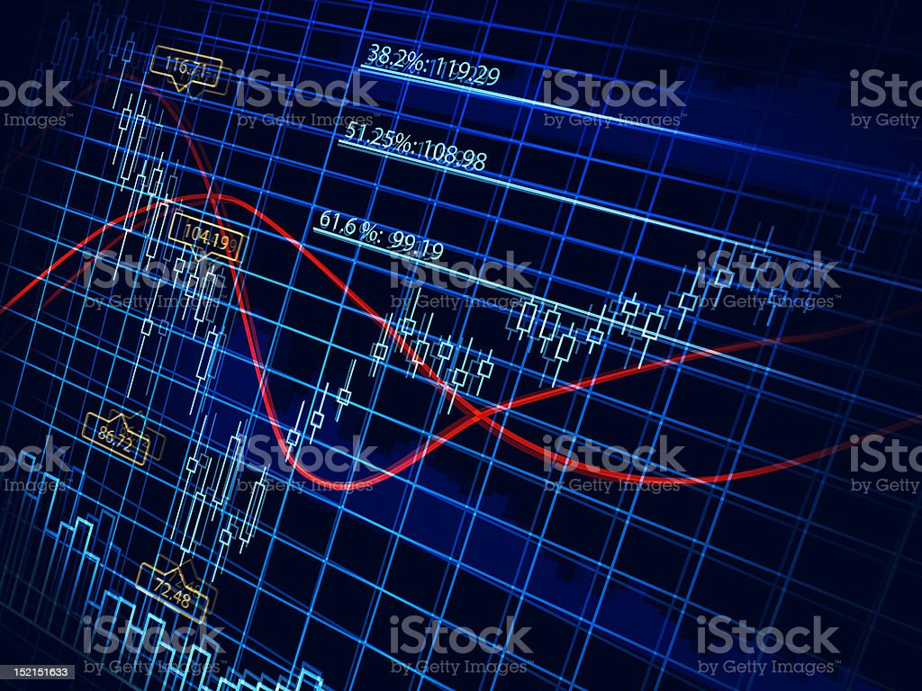 Abstract finance diagram royalty-free stock vector art