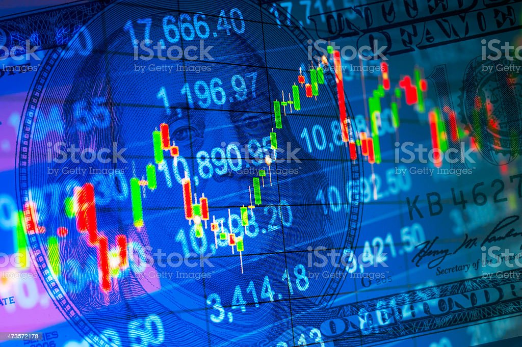 Abstract financial background stock photo