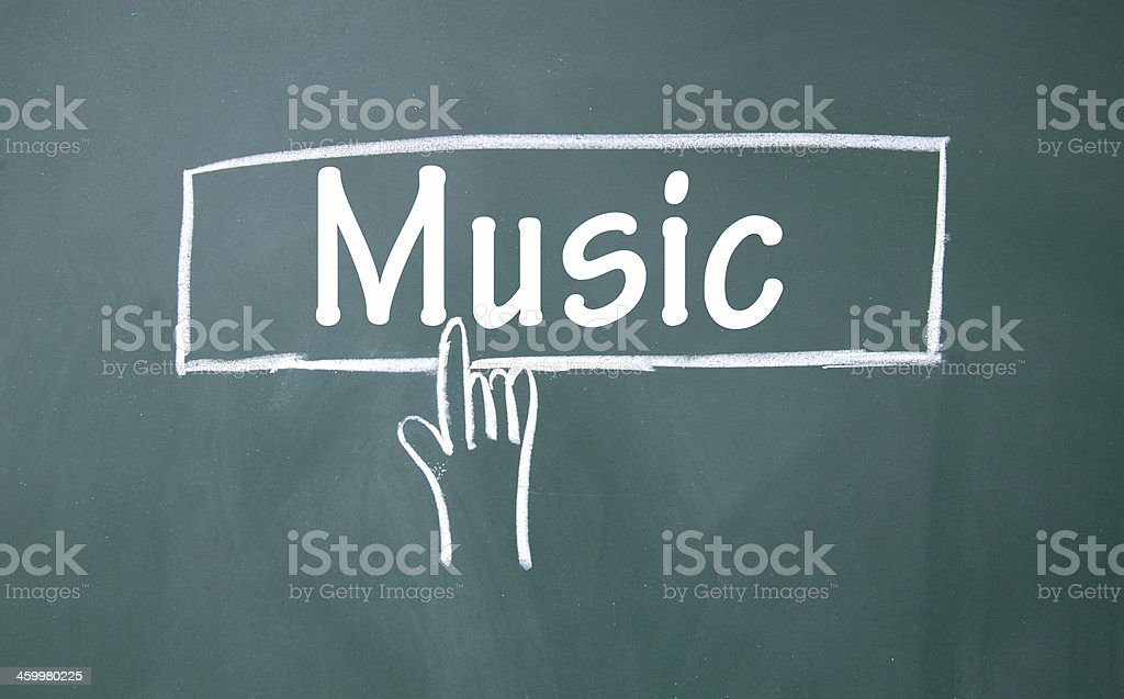 abstract finger click music sign stock photo
