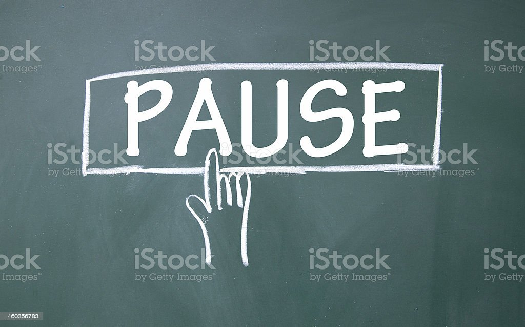 abstract finger click pause sign stock photo