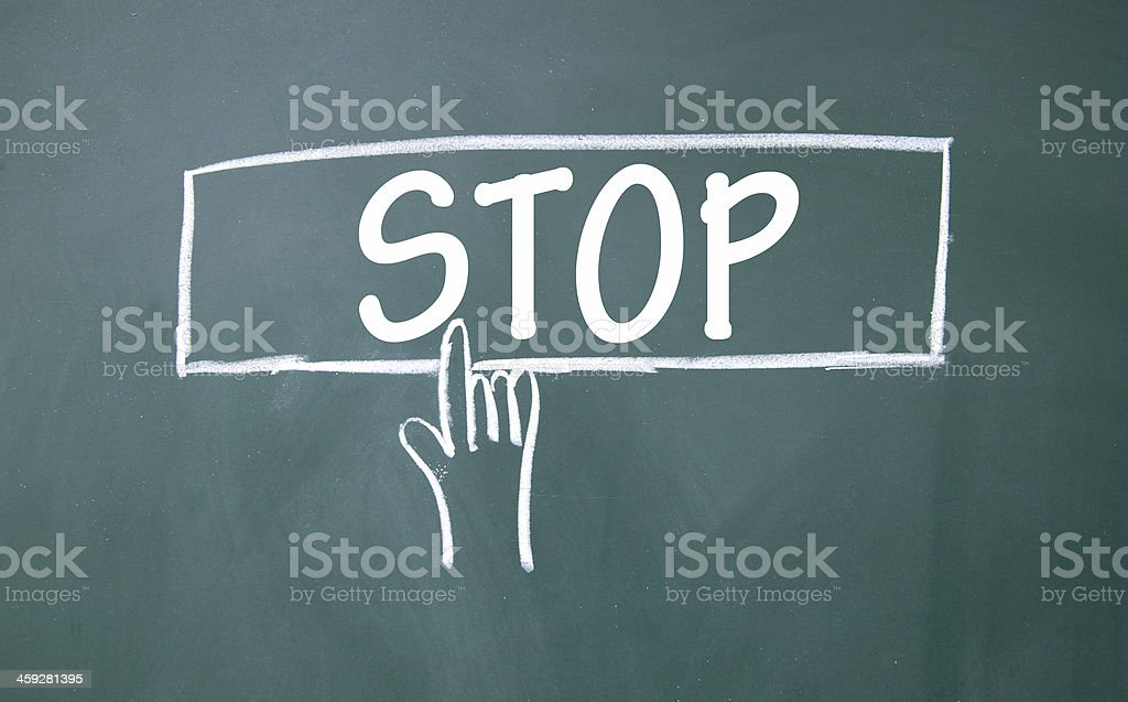 abstract finger click stop sign royalty-free stock photo