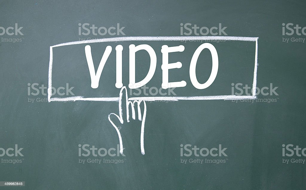 abstract finger click video sign stock photo