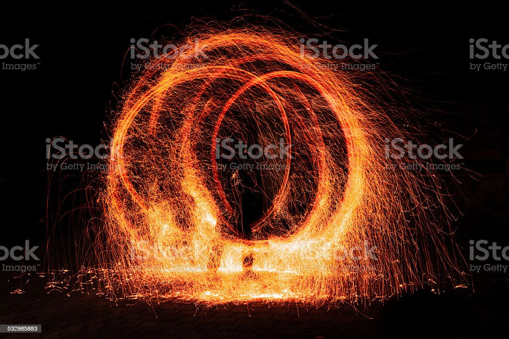 Abstract fire figure stock photo