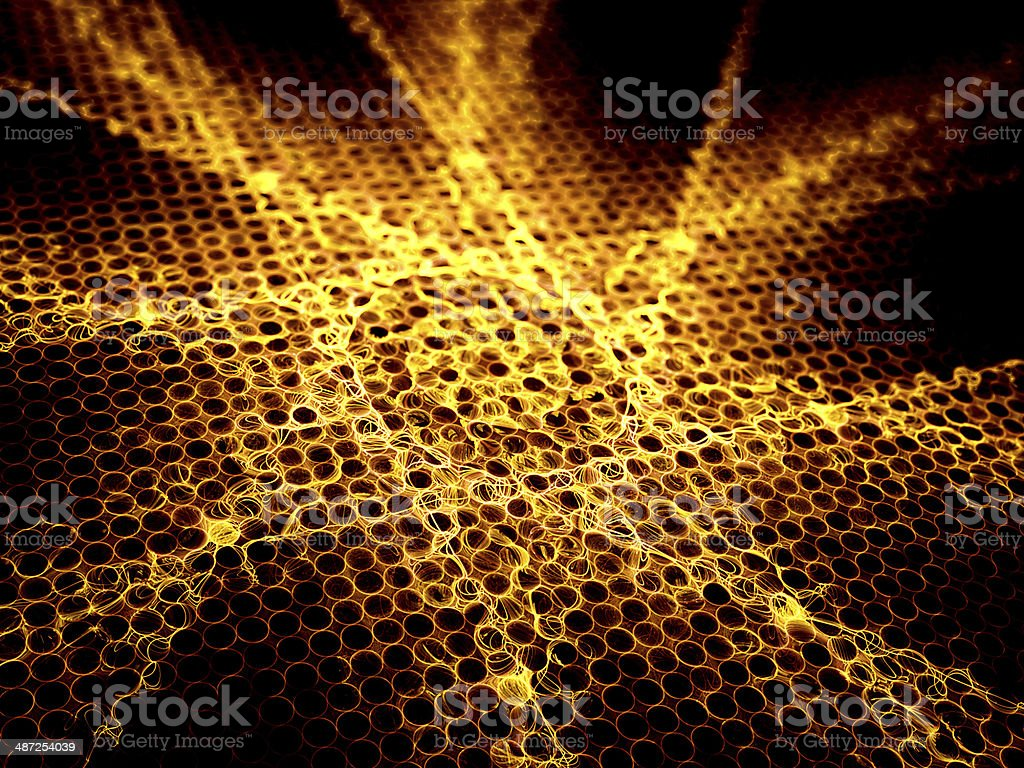 Abstract fire star shape royalty-free stock photo