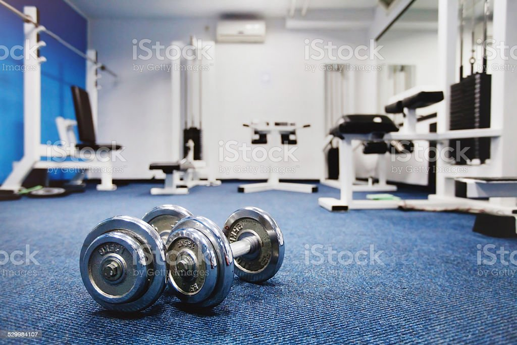 abstract fitness center stock photo