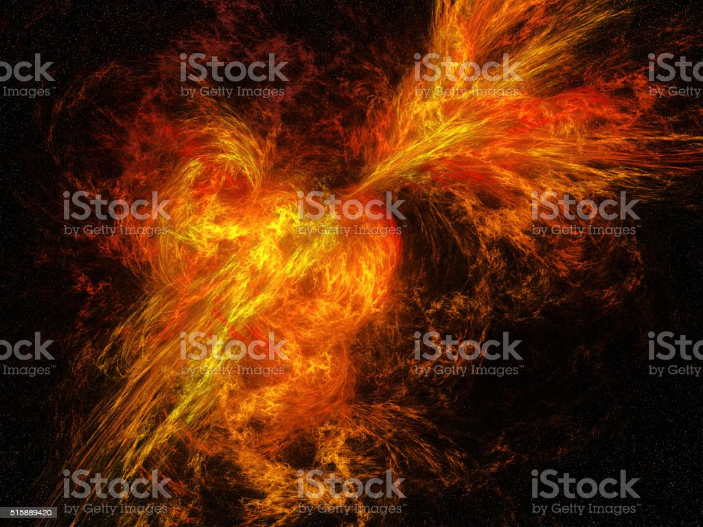 Abstract flames explosion stock photo