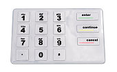 abstract flat user interface keypad 3d render