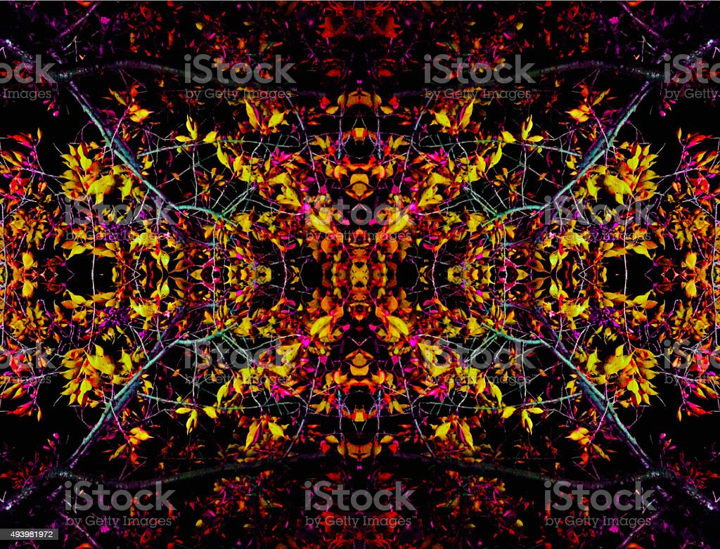 Abstract flower kaleidoscope background stock photo