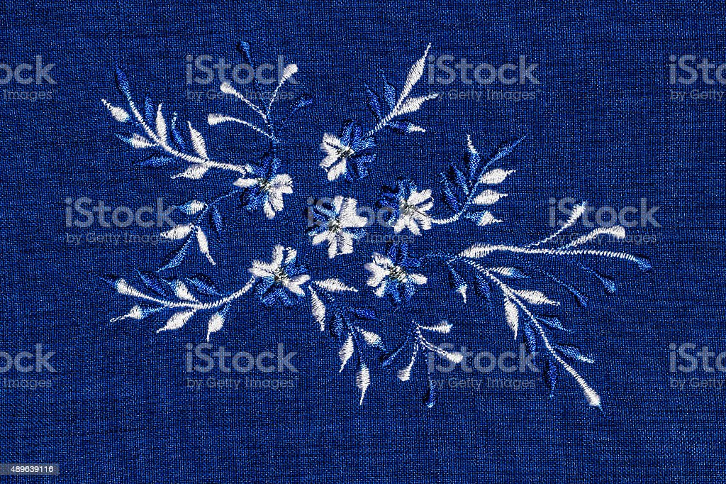 Abstract flower sewing stock photo