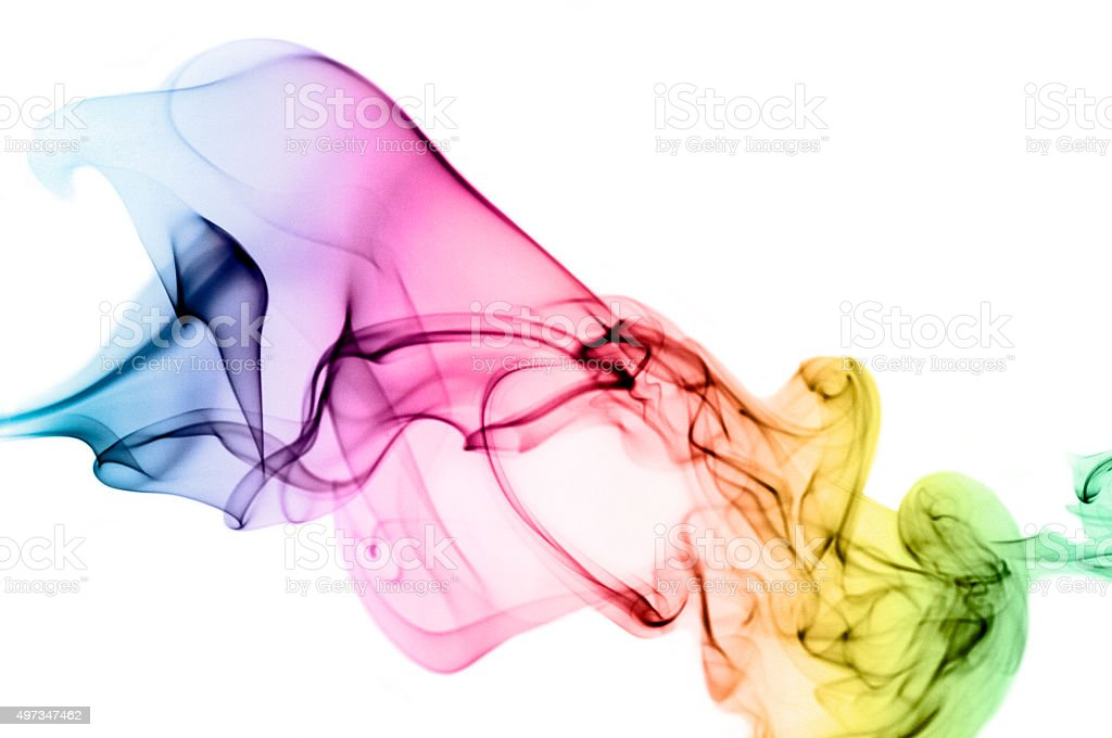 Abstract Flowing Smoke Pattern stock photo