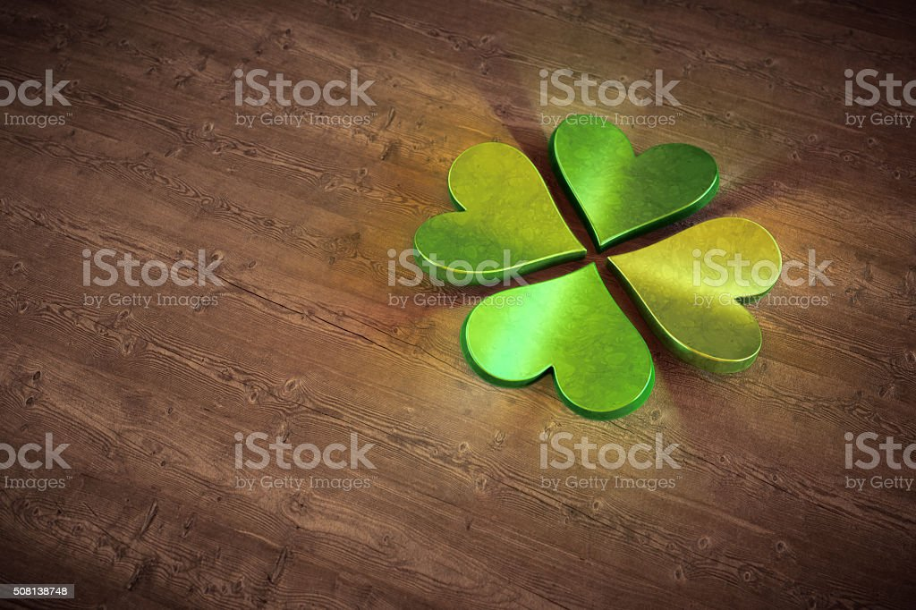 Abstract Four Leaf Clover stock photo