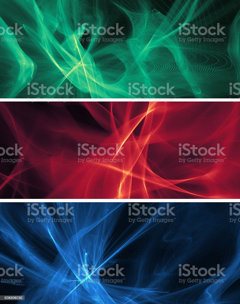 Abstract fractal banners stock photo