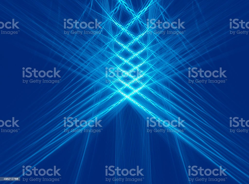 Abstract fractal blue checkered background stock photo