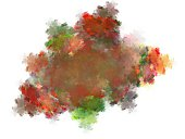 Abstract fractal chaotic with uneven pattern of strokes