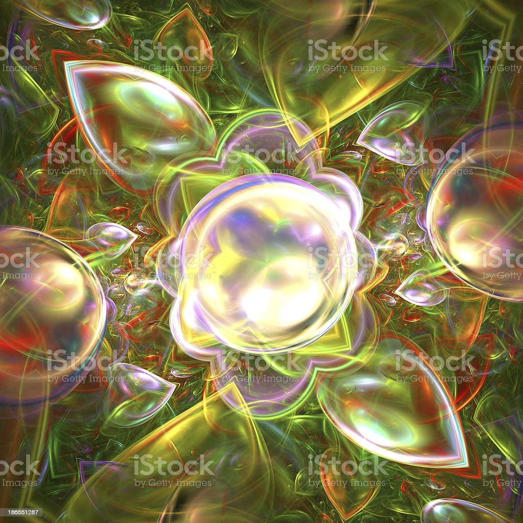 Abstract fractal color background royalty-free stock photo
