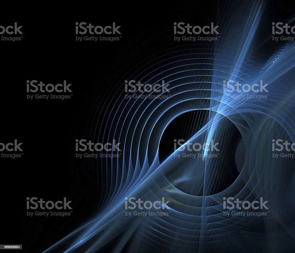Abstract fractal design with sound waves in blue stock photo