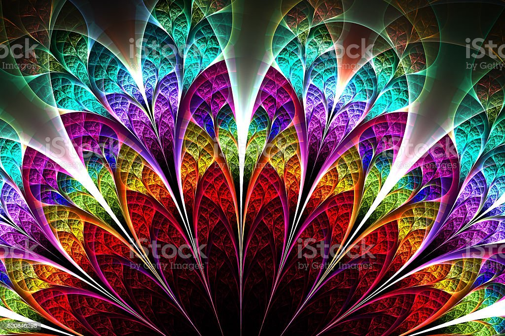 Abstract fractal fantasy  pattern and shapes. stock photo