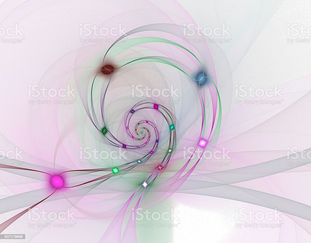 Abstract fractal image stock photo