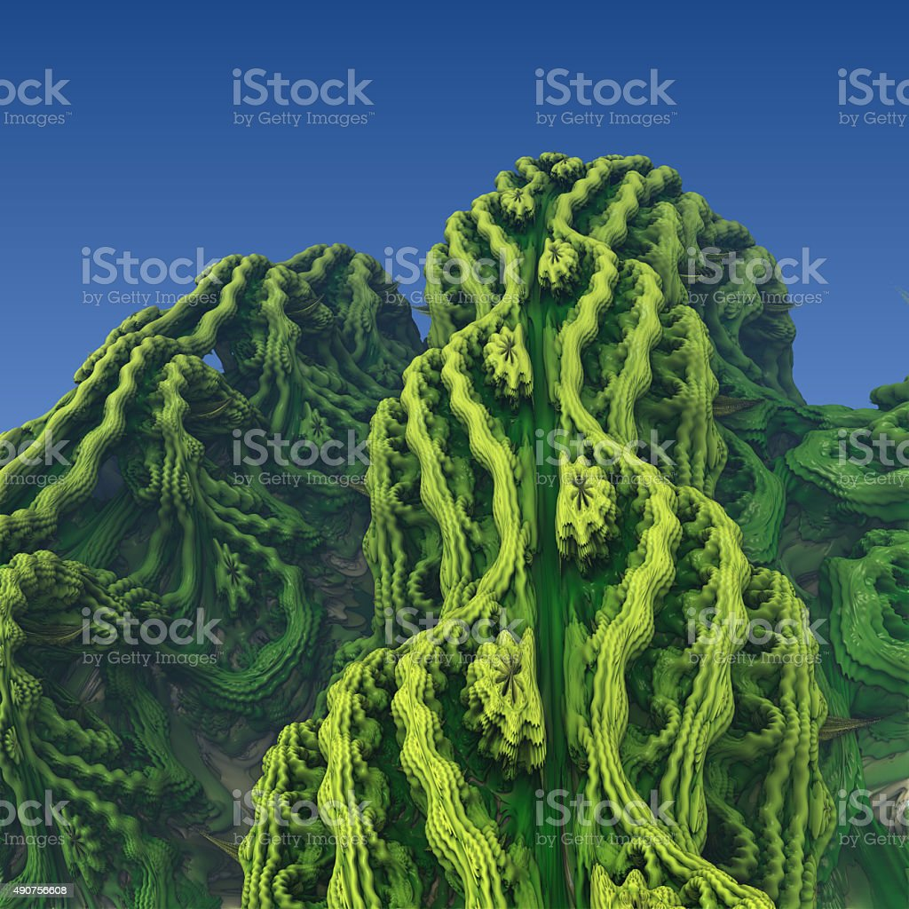 Abstract fractal landscape stock photo