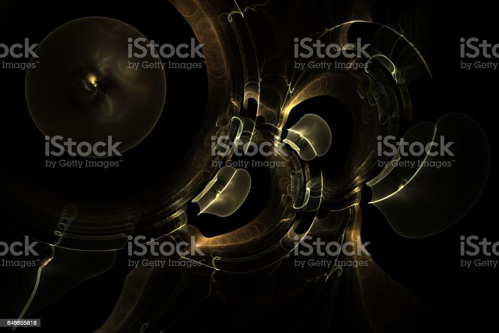 abstract fractal magic galactic plays melody jazz stock photo
