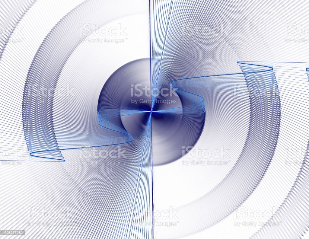 abstract fractal sinusoid stock photo