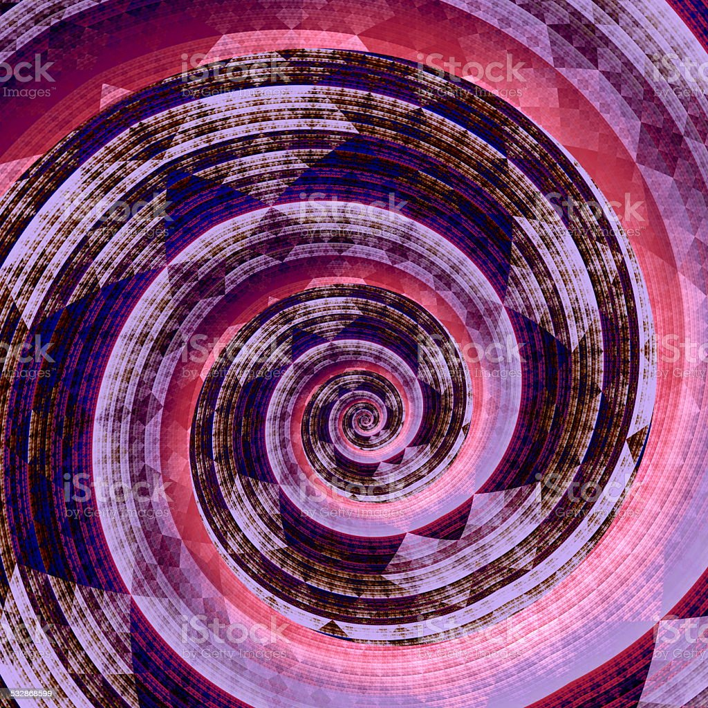 Abstract Fractal Twirl. Purple Pink Background. Digital Artwork Graphic. Geometric. stock photo
